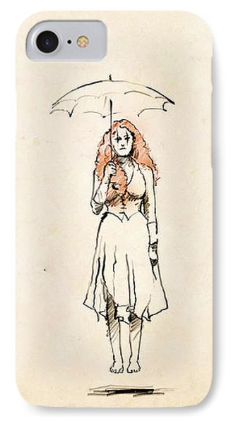 Floating Girl IPhone Case by H James Hoff