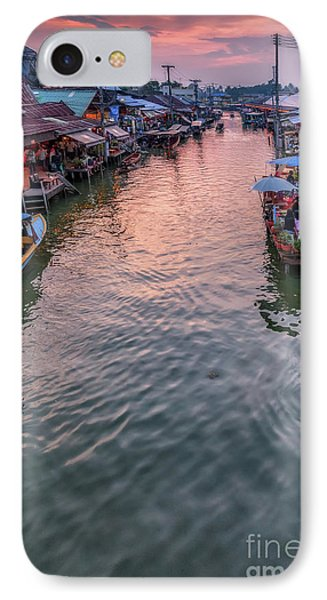 Floating Market Sunset IPhone Case