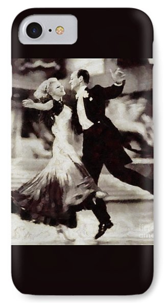 Floating On Air, Fred And Ginger, Vintage Legends IPhone Case by Sarah Kirk