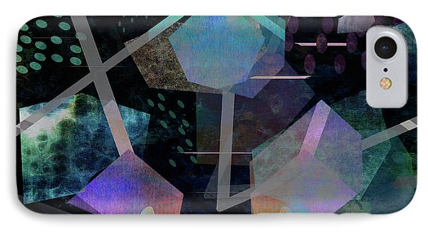 Floating Original Abstract Art IPhone Case by Ann Powell