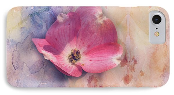 IPhone Case featuring the photograph Floating Pink Bloom by Toni Hopper