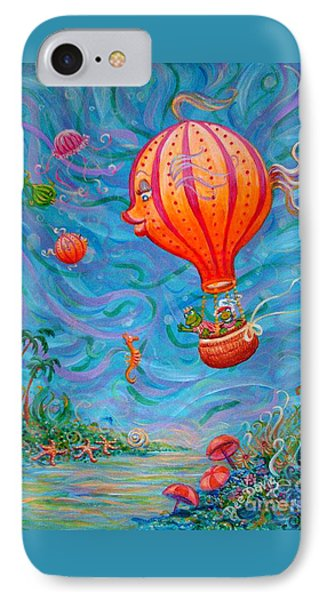 Floating Under The Sea IPhone Case by Dee Davis