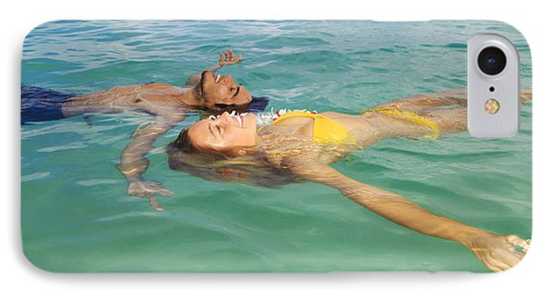 Floating Young Couple Phone Case by Tomas del Amo - Printscapes
