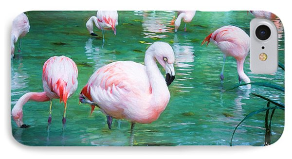 Flock Of Flamingos IPhone Case