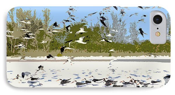 Flock Of Seagulls IPhone Case by David Lee Thompson