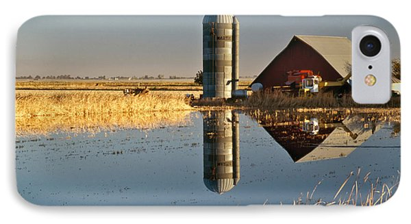 Flooded Rice Field IPhone Case by Inga Spence