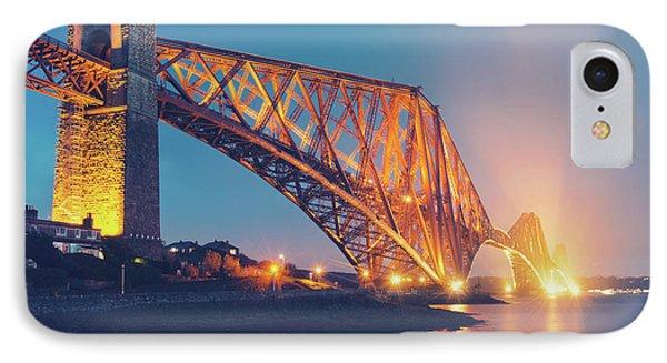 Floodlit Forth Bridge IPhone Case by Ray Devlin