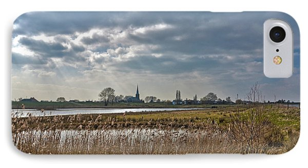 IPhone Case featuring the photograph Floodplains Near Culemborg by Frans Blok