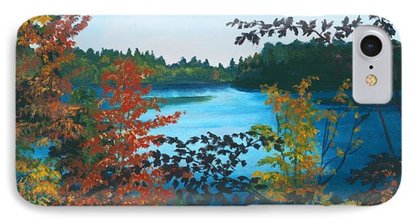 IPhone Case featuring the painting Floodwood by Lynne Reichhart
