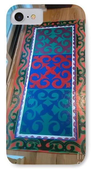 Floor Cloth Arabesque IPhone Case by Judith Espinoza