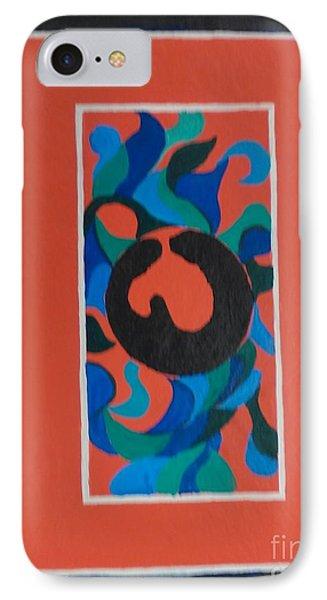 Floor Cloth E IPhone Case by Judith Espinoza