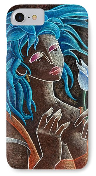 Flor Y Viento Phone Case by Oscar Ortiz
