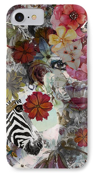 IPhone Case featuring the digital art Flora And Fauna by Nola Lee Kelsey
