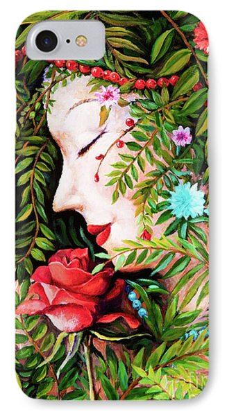 IPhone Case featuring the painting Flora-da-vita by Igor Postash