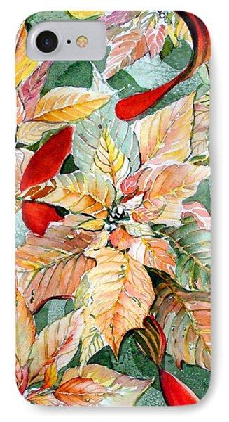 A Peachy Poinsettia IPhone Case by Mindy Newman