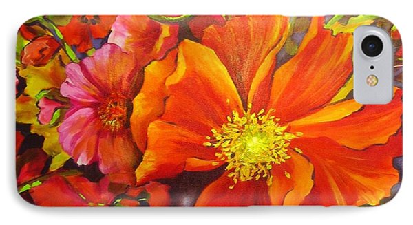 IPhone Case featuring the painting Floral Abundance by Chris Hobel