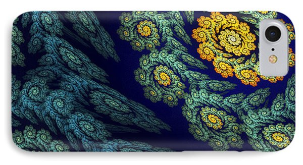 Floral Abyss IPhone Case by Sandra Bauser Digital Art