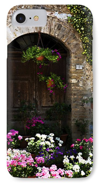 Floral Adorned Doorway IPhone Case by Marilyn Hunt