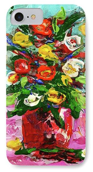 Floral Arrangement IPhone Case by Janet Garcia