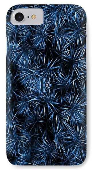 Floral Blue Abstract IPhone Case by David Dehner