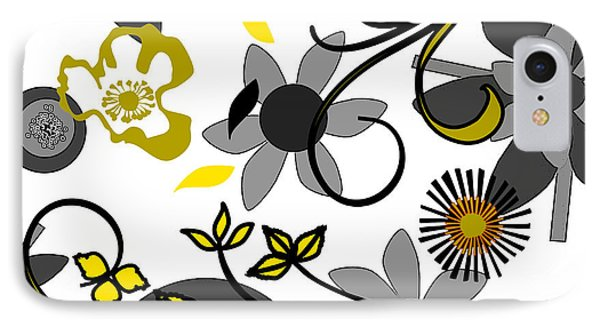 Floral Collision IPhone Case by Ruth Palmer
