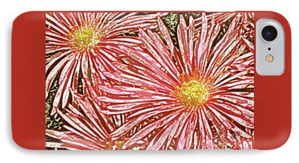 Floral Design No 1 Phone Case by Ben and Raisa Gertsberg