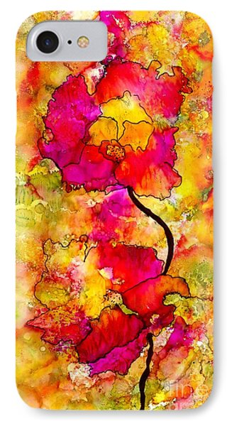 IPhone Case featuring the painting Floral Duet by Angela L Walker
