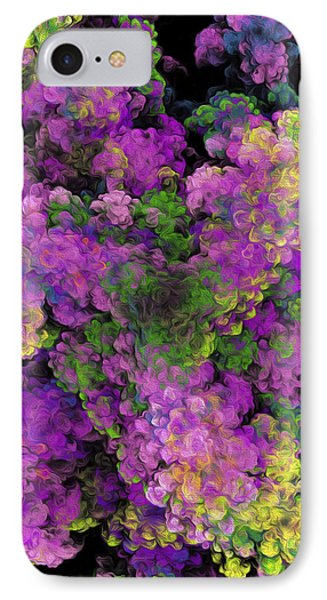 IPhone Case featuring the digital art Floral Fancy Abstract by Andee Design