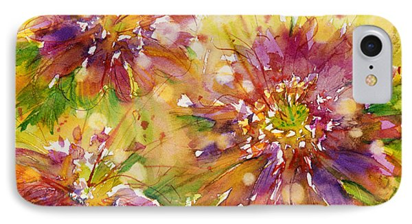 Floral Fireworks IPhone Case by Judith Levins