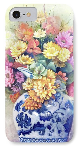 IPhone Case featuring the painting Floral Fusion by Marlene Book