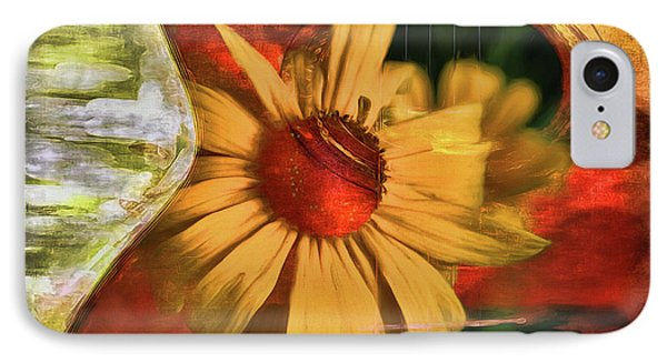 Floral Guitar IPhone Case by Deborah Benoit