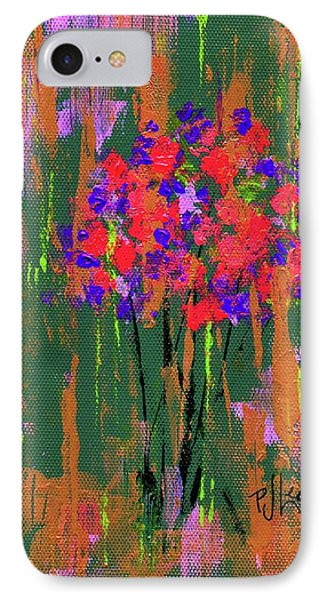 IPhone Case featuring the painting Floral Impresions by P J Lewis