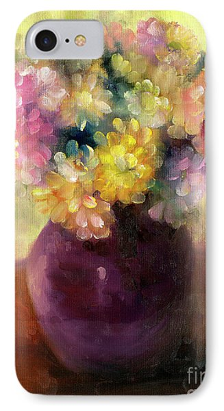 IPhone Case featuring the painting Floral Oil Sketch by Marlene Book