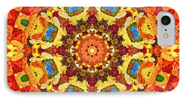 Mandala Of The Sun IPhone Case by Anton Kalinichev