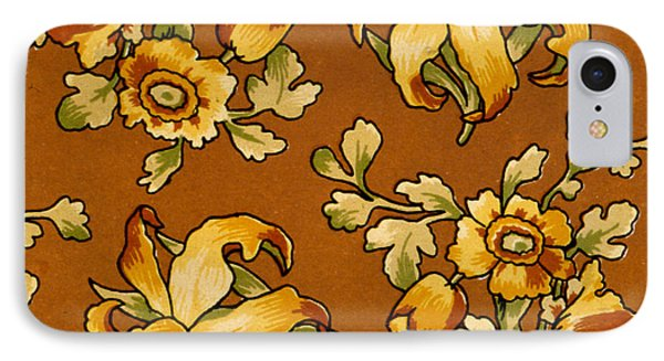 Floral Textile Design IPhone Case by English School