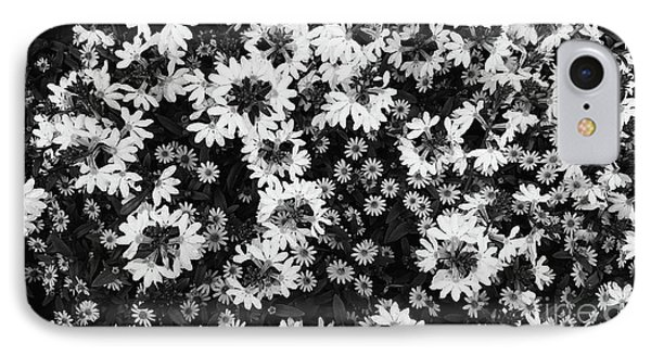 Floral Texture In Black And White IPhone Case