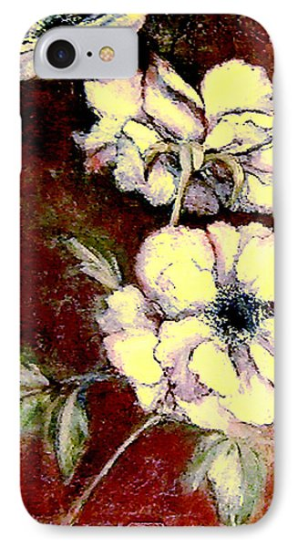 Floral Watercolor Painting IPhone Case by Merton Allen