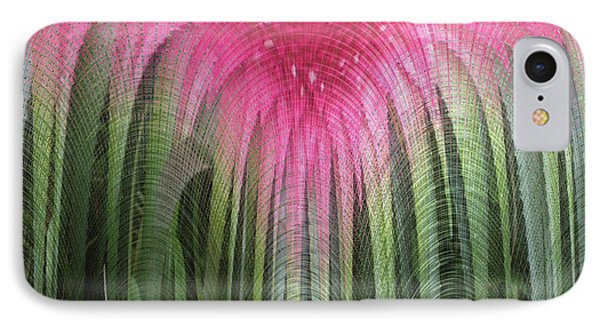 Floral Waterfall IPhone Case by Ann Johndro-Collins