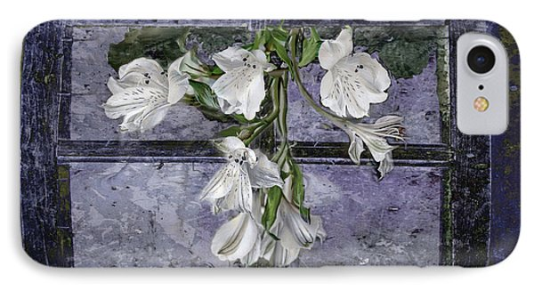 IPhone Case featuring the photograph Floral Window Frame by Bonnie Willis