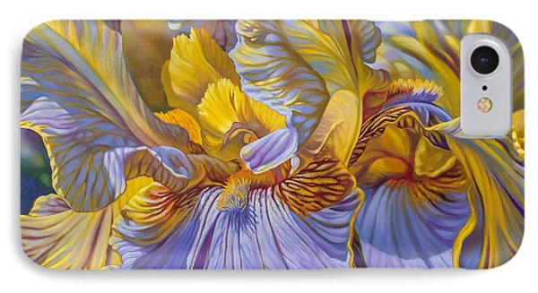 Floralscape 2 - Mauve And Yellow Irises 1 IPhone Case
