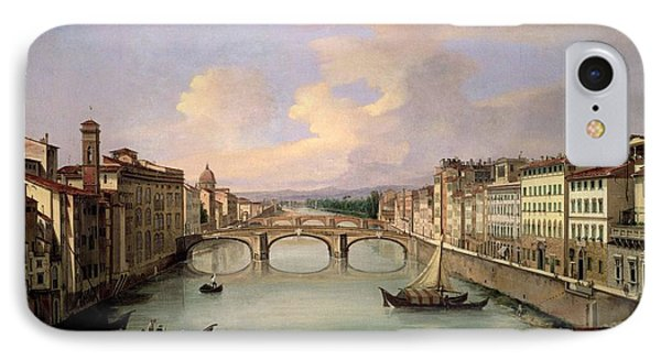 Florence From The Ponte Vecchio IPhone Case by Giovanni Signorini