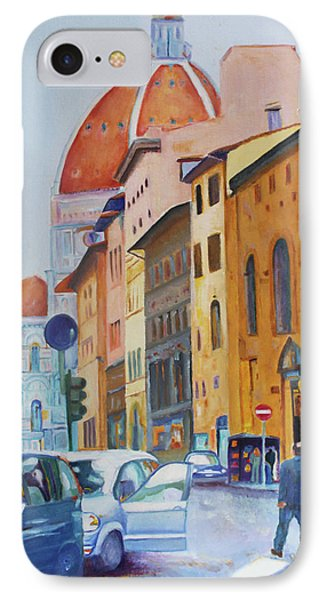 Florence Going To The Duomo IPhone Case