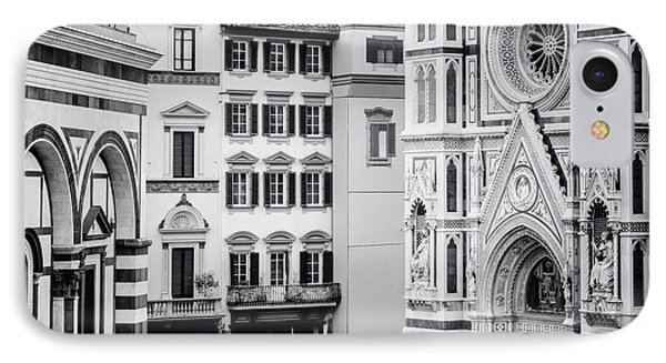IPhone Case featuring the photograph Florence Italy View Bw by Joan Carroll