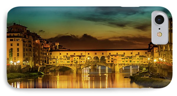 Florence Ponte Vecchio At Sunset IPhone Case by Melanie Viola