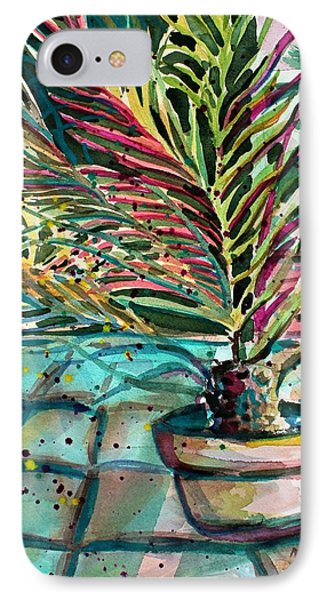 IPhone Case featuring the painting Florescent Palm by Mindy Newman