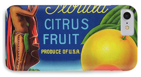Florida Eureka Citrus Fruit Crate Label IPhone Case