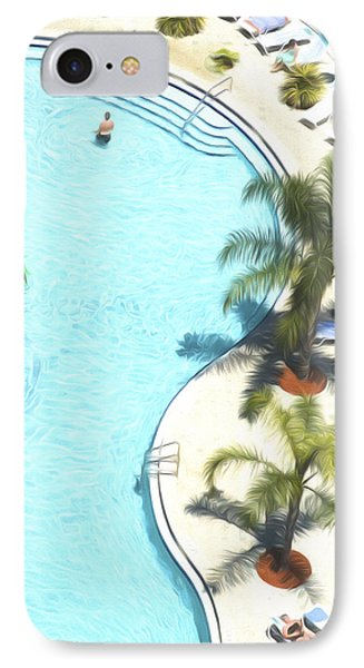 Florida Pool 33 IPhone Case by Glenn Gemmell