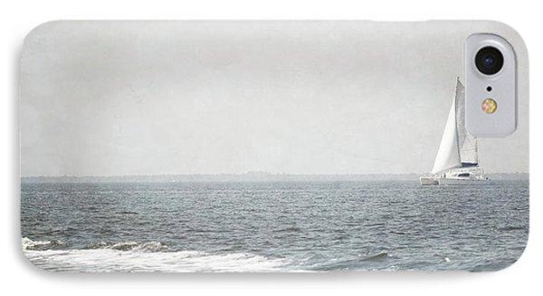 Florida Rustic Sailboat Ocean Landscape IPhone Case by Andrea Hazel Ihlefeld