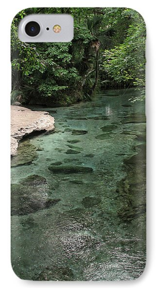 Florida Spring Run IPhone Case by Peg Urban