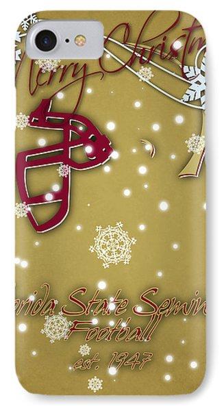 Florida State Seminoles Christmas Card 2 IPhone 7 Case by Joe Hamilton